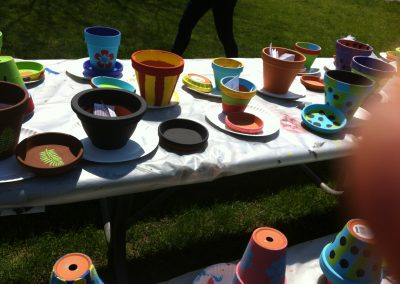 Clay Flower Pot Painting1