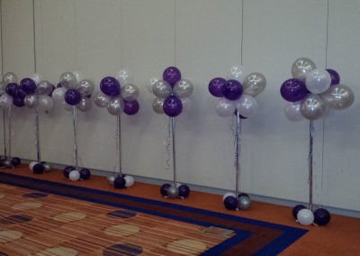 9 Balloon Clusters on 5 ft Stands